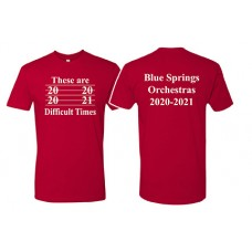 Blue Springs Orchestra Next Level Short-sleeved T (Red)
